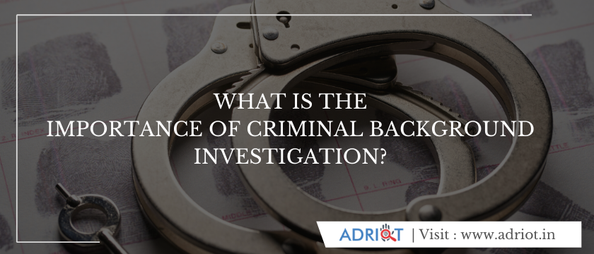 What Is The Importance Of Criminal Background Investigation?